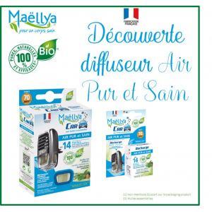 """Découverte Diffuseur voiture """"Air Pur et Sain"""" - Contrôlé parfum d'ambiance Ecocert"""