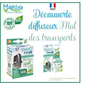 """Découverte Diffuseur voiture """"Mal des Transports"""" - Contrôlé parfum d'ambiance Ecocert"""