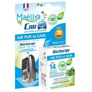 """Recharge pour Diffuseur voiture """"Air Pur et Sain"""" 5 ml Contrôlé Spray d'ambiance Ecocert"""
