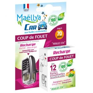 """Recharge pour Diffuseur voiture """"Coup de Fouet """" 5 ml Contrôlé Spray d'ambiance Ecocert"""