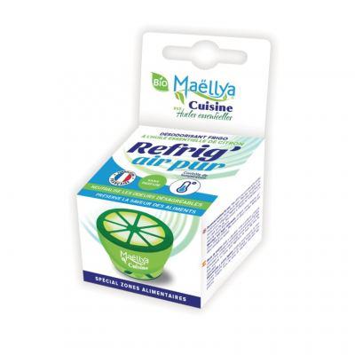 """Neutralisateur d'odeurs pour réfrigérateur à l'huile essentielle de citron bio """"Refrig 'Air Pur"""" 20g"""