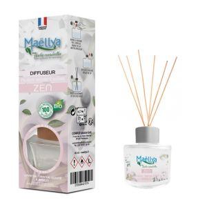"""Diffuseur bâtons """"Zen"""" 40 ml, Parfum d'ambiance contrôlé par Ecocert"""
