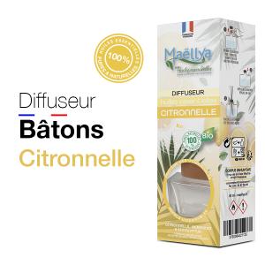 """Diffuseur bâtons """"Citronnelle"""" - 40 ml"""