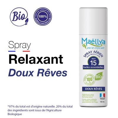 Spray Doux Rêves aux huiles essentielles bio