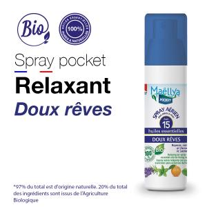 Spray POCKET aux huiles essentielles Doux Rêves 50 ml bio