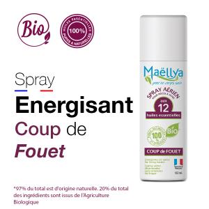 Spray aérien Coup de Fouet - 100 ml aux huiles essentielles BIO Contrôlé Parfum d'ambiance par Ecocert