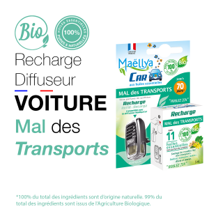 "Recharge Diffuseur voiture ""Mal des Transports"" - 5 ml"
