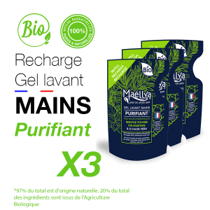 "LOT : 3 Recharges gels lavants Mains ""Purifiant"""