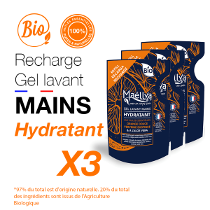 "LOT : 3 Recharges gels lavants Mains ""Hydratant"""