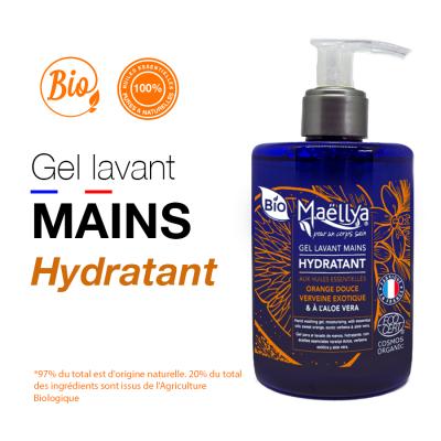 Gel Lavant Mains Hydratant BIO aux Huiles Essentielles MAELLYA