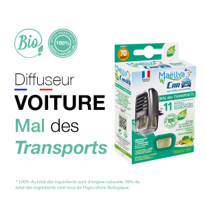 "Diffuseur voiture ""Mal des Transports"" - 5 ml"