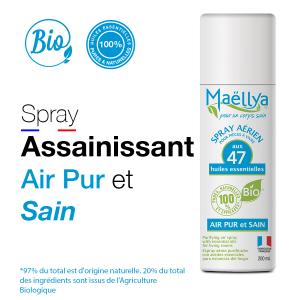 Spray aux huiles essentielles bio Air pur et sain 100 ml maellya